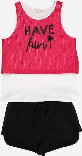 OVS Jogginganzug in pitaya / schwarz / weiß, Produktansicht