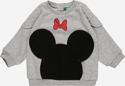 UNITED COLORS OF BENETTON Sweat-shirt en gris clair / rouge / noir, Vue avec produit