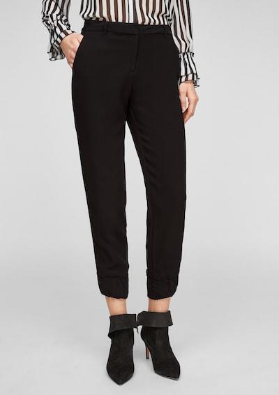 s.Oliver BLACK LABEL Pantalon en noir, Vue avec modèle