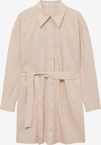 MANGO Shirt Dress 'Mexi1-H' in Beige