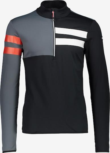 CMP Funktionsshirt in silbergrau / koralle / schwarz / weiß, Produktansicht