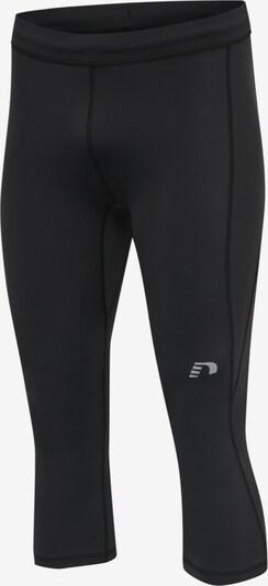 Hummel Sporthose in schwarz / weiß, Produktansicht