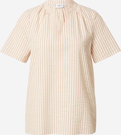 Bluză 'Frinka' SAINT TROPEZ pe maro cappuccino / alb, Vizualizare produs