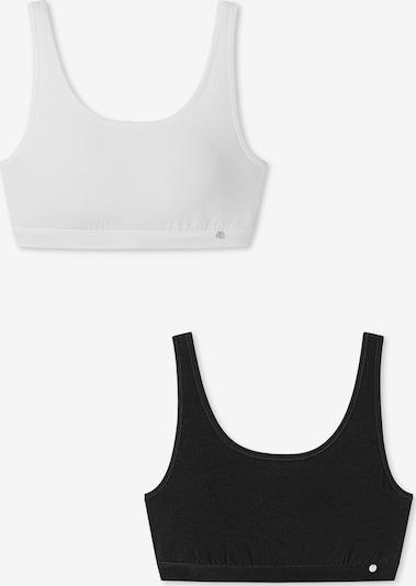 SCHIESSER Bustier ' 95/5 ' in schwarz / weiß, Produktansicht