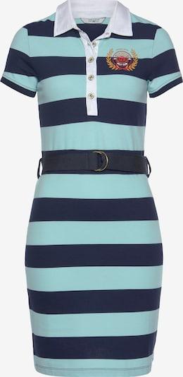 Tom Tailor Polo Team Kleid in blau / dunkelblau / dunkelgelb / rot, Produktansicht