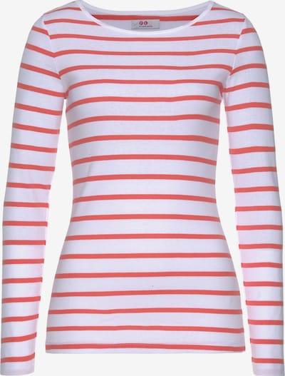 FLASHLIGHTS Shirt in koralle / weiß, Produktansicht
