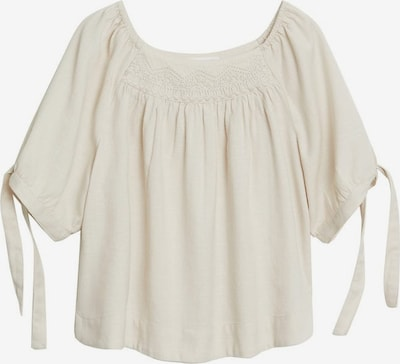MANGO Bluse in nude: Frontalansicht