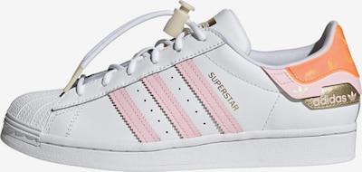 ADIDAS ORIGINALS Zemie brīvā laika apavi 'Superstar', krāsa - Zelts / koraļļu / pasteļrozā / balts, Preces skats