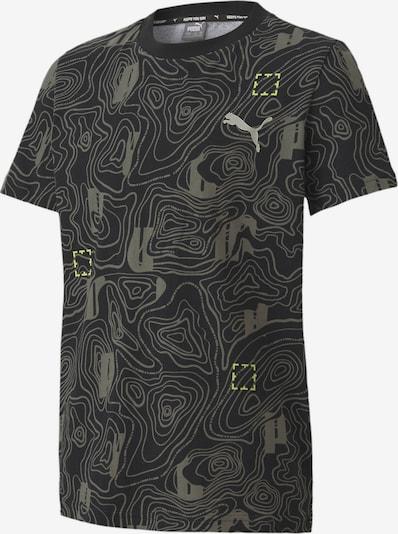 PUMA Functioneel shirt in de kleur Geel / Rookgrijs / Zwart, Productweergave