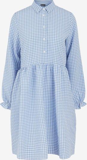 PIECES Kleid 'Friti' in rauchblau / weiß, Produktansicht