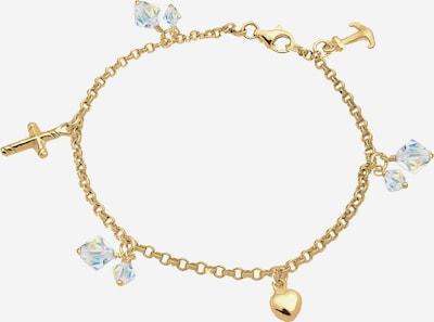 ELLI Armband Anker, Bettelarmband, Herz, Kreuz, Multipendants in gold, Produktansicht
