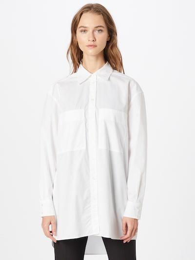 BOSS Casual Bluse 'Benger' in weiß, Modelansicht