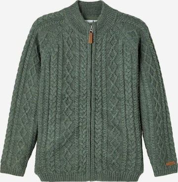 NAME IT Knit Cardigan in Green