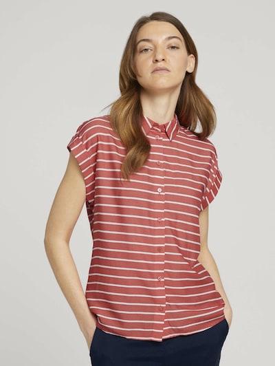 TOM TAILOR Bluse in rot / weiß, Modelansicht