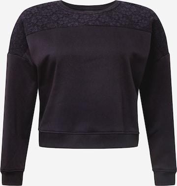 juoda Urban Classics Curvy Megztinis be užsegimo