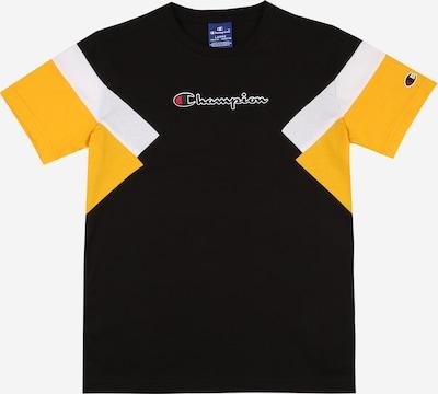 Champion Authentic Athletic Apparel T-Shirt in gelb / schwarz / weiß, Produktansicht