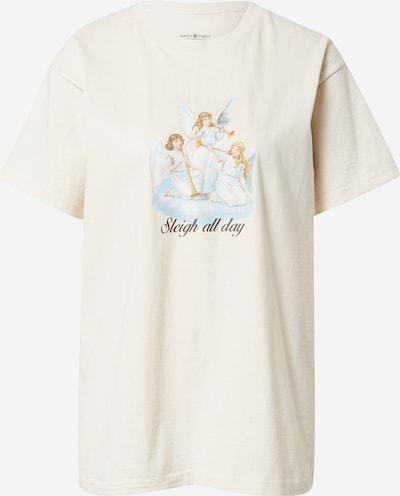 Daisy Street Camiseta 'TYLER' en piel / beige oscuro / azul claro / amarillo / blanco natural, Vista del producto