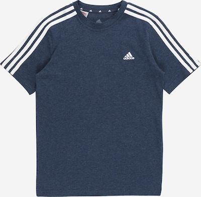 ADIDAS PERFORMANCE Funkcionalna majica | dimno modra / bela barva: Frontalni pogled