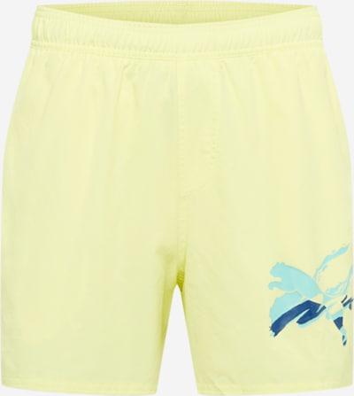 PUMA Sporta bikses zils / debeszils / dzeltens, Preces skats