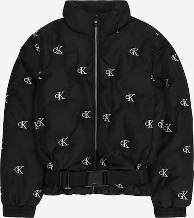 Giacca di mezza stagione Calvin Klein Jeans di colore nero / bianco, Visualizzazione prodotti