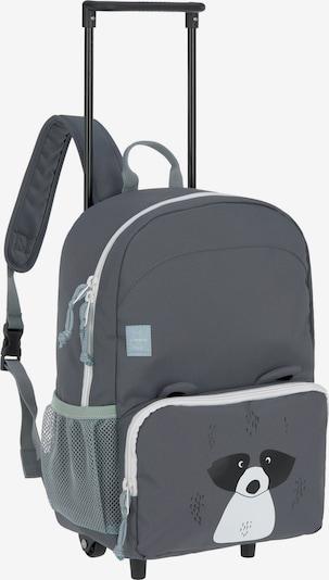 LÄSSIG Rucksack 'Racoon' in dunkelgrau / schwarz / weiß, Produktansicht