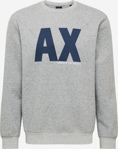 ARMANI EXCHANGE Sweater majica u tamno plava / siva, Pregled proizvoda