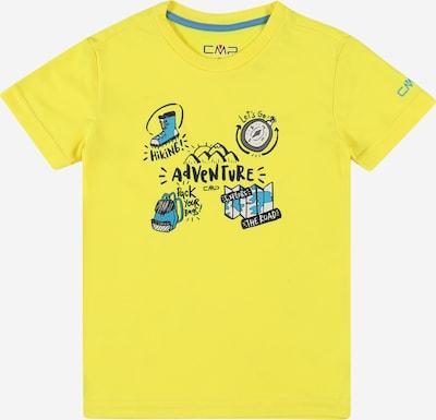 CMP Functioneel shirt in de kleur Turquoise / Geel gemêleerd / Zwart, Productweergave
