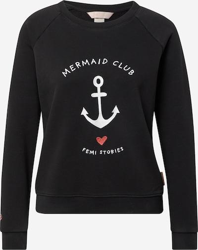 Femi Stories Sweatshirt 'BARET' in rot / schwarz / weiß, Produktansicht