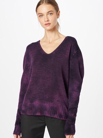 120% Lino Sweater in Purple