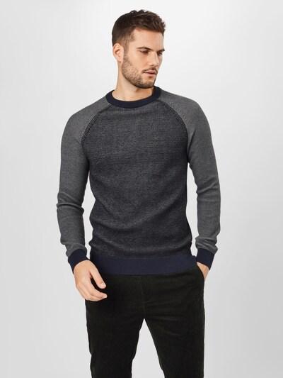 Megztinis iš EDC BY ESPRIT , spalva - tamsiai pilka / juoda: Vaizdas iš priekio