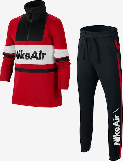 Nike Sportswear Survêtement en rouge / noir / blanc, Vue avec produit