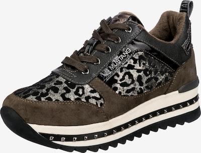 MUSTANG Sneakers in Dark brown / Black / Silver, Item view