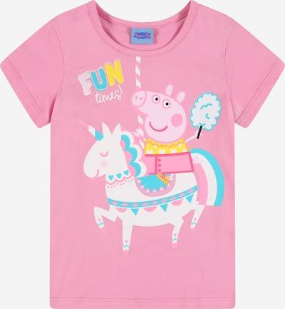 Peppa Pig T-Shirt in himmelblau / gelb / rosa / hellpink / weiß, Produktansicht
