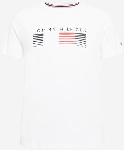 TOMMY HILFIGER T-Shirt en bleu nuit / rouge clair / blanc, Vue avec produit