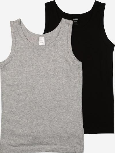 SCHIESSER Unterhemd in grau / schwarz, Produktansicht