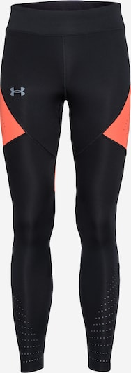 UNDER ARMOUR Sportbroek 'Speedpocket' in de kleur Grijs / Koraal / Zwart, Productweergave
