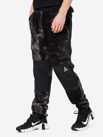 HUF Nohavice 'POLARYS' - čierna / biela, Model/-ka