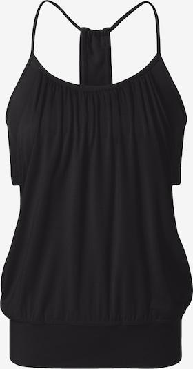CURARE Yogawear Open Top - Black in schwarz, Produktansicht