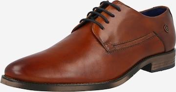 bugatti Δετό παπούτσι 'Lair' σε καφέ