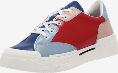 Love Moschino Sneaker in blau / rosa / rot, Produktansicht