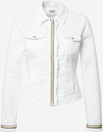 LIU JO JEANS Tussenjas 'GIUBBINO DRILL' in de kleur Safraan / Zwart / White denim, Productweergave