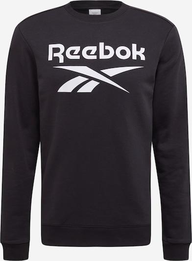 REEBOK Sportsweatshirt in de kleur Zwart / Wit, Productweergave