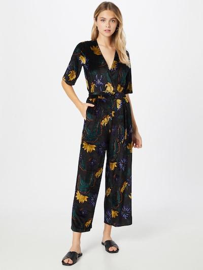 King Louie Jumpsuit  'Zita' in goldgelb / mischfarben / schwarz, Modelansicht