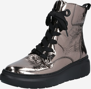ARA Lace-Up Ankle Boots 'Lausanne' in Silver