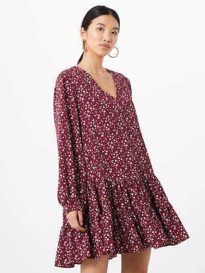 GLAMOROUS Kleid in weinrot / weiß, Modelansicht