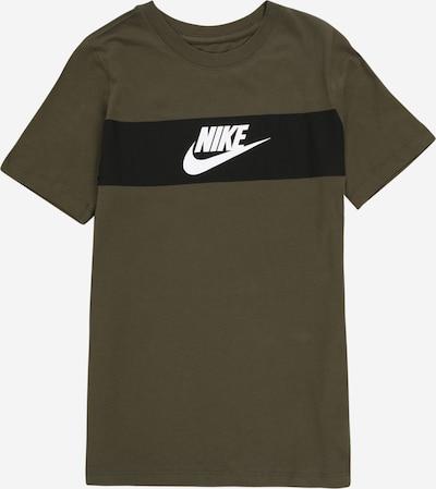 Nike Sportswear T-Shirt in khaki / dunkelgrün / weiß, Produktansicht