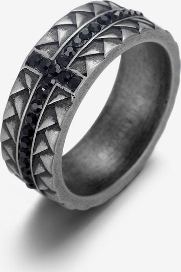 FIRETTI Ring in grau / schwarz, Produktansicht