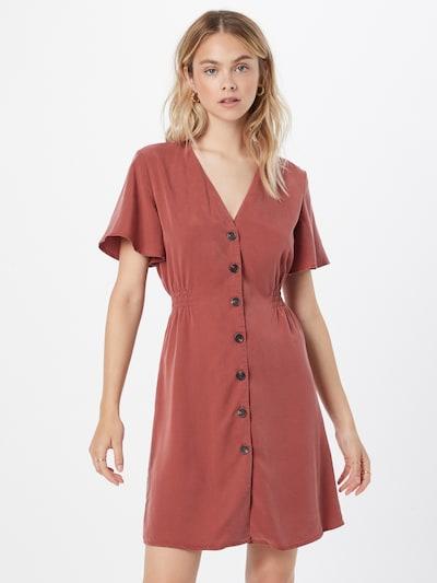 ONLY Kleid 'MAGNE' in rostbraun, Modelansicht