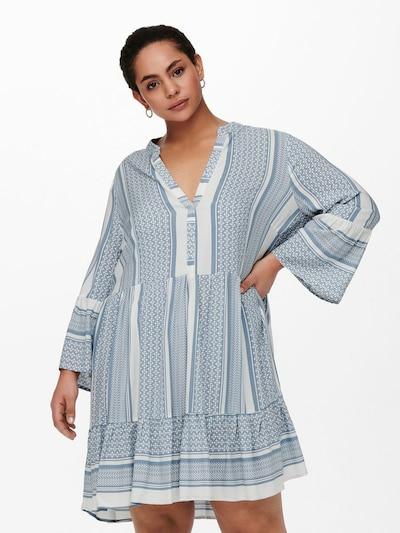 ONLY Carmakoma Kleid in hellblau / weiß, Modelansicht