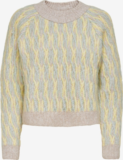 ONLY Sweater 'Mellie' in Yellow / Mint / Pastel pink, Item view